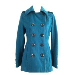 Apt. 9 Doble Breasted Pleated Wool Pea Coat